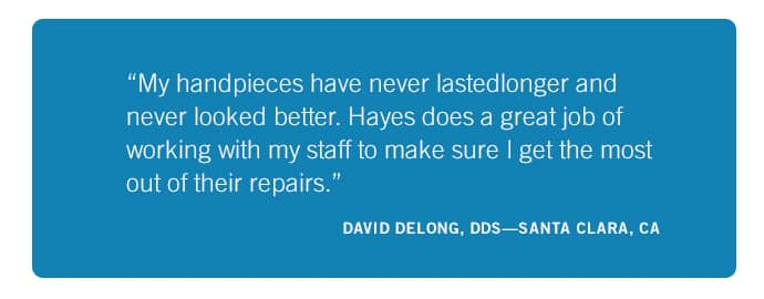 5 Star Reviews Hayes Handpiece California