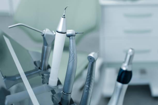 a set of dental drills handpieces